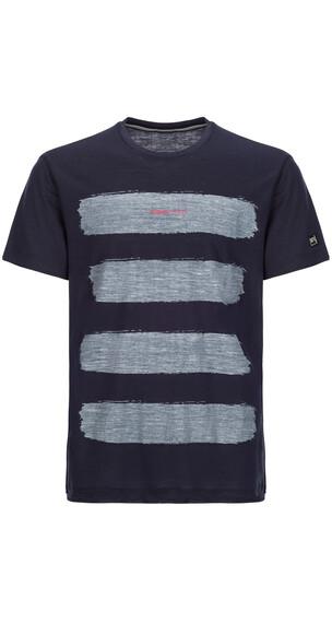 super.natural Graphic Tee 140 Shortsleeve Shirt Men blue/white
